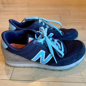 Navy Blue with Light Blue and Grey New Balance 501